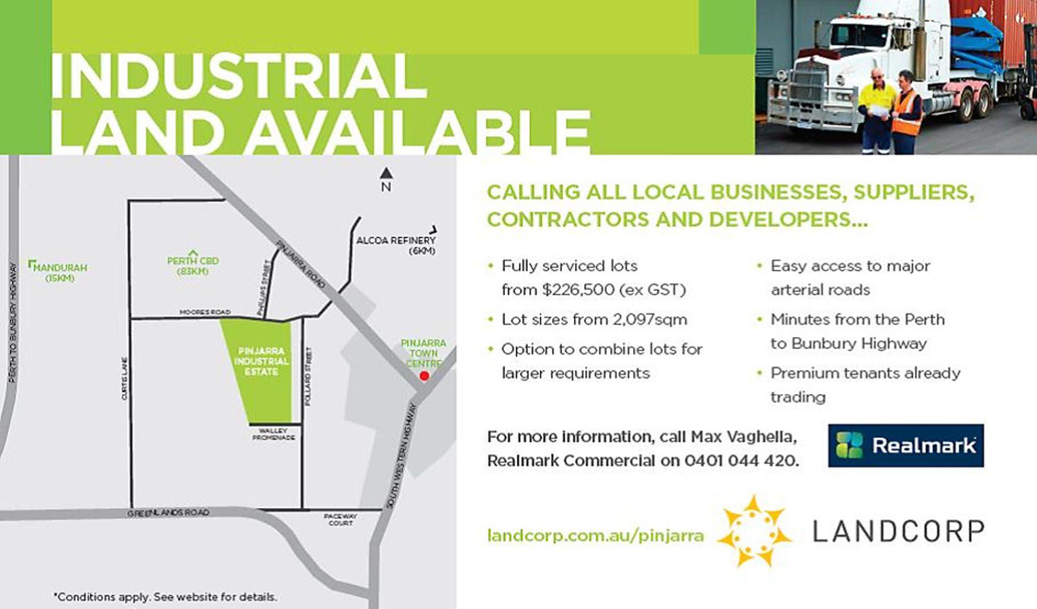 Realmark Commercial :: Pinjarra Industrial Estate, Pinjarra, WA 6208