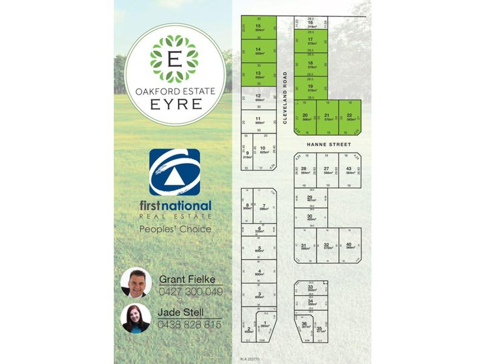 Lot 20 Hanne Street, Eyre, SA 5121