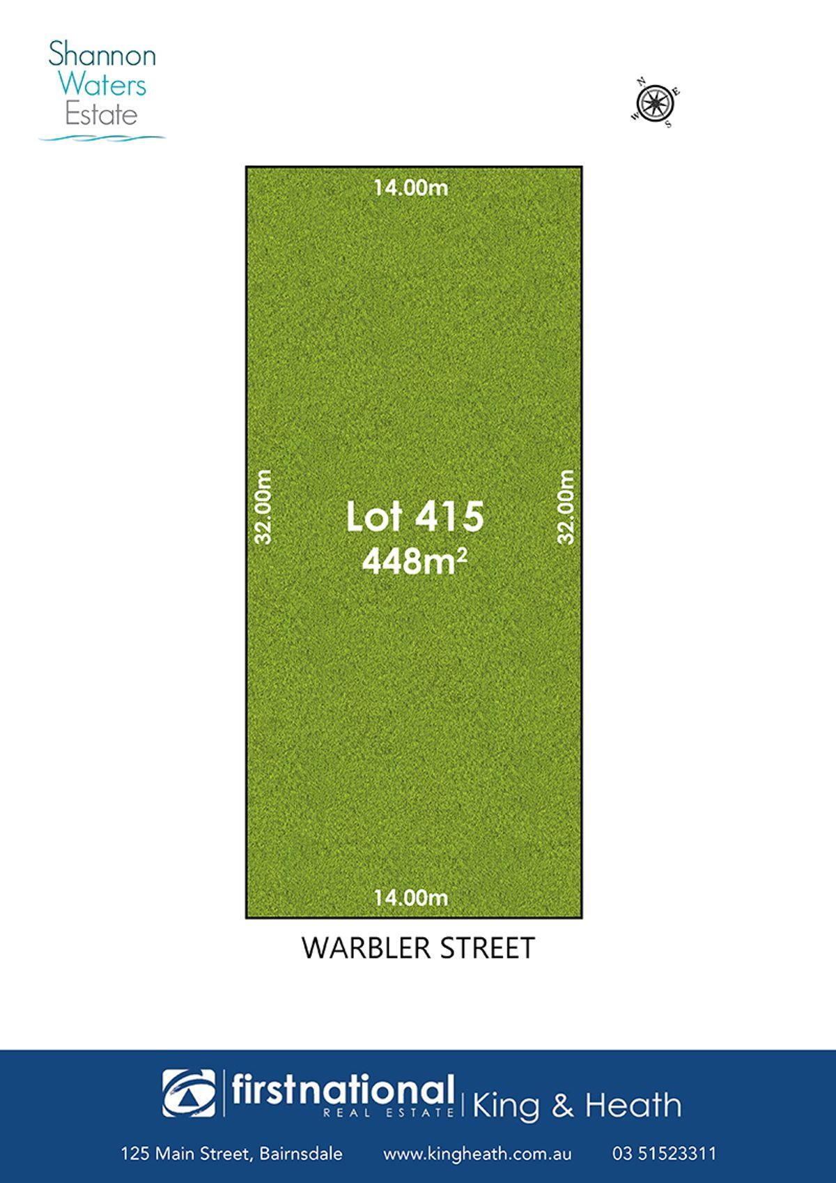 Lot 415 Warbler Street, Bairnsdale, VIC 3875