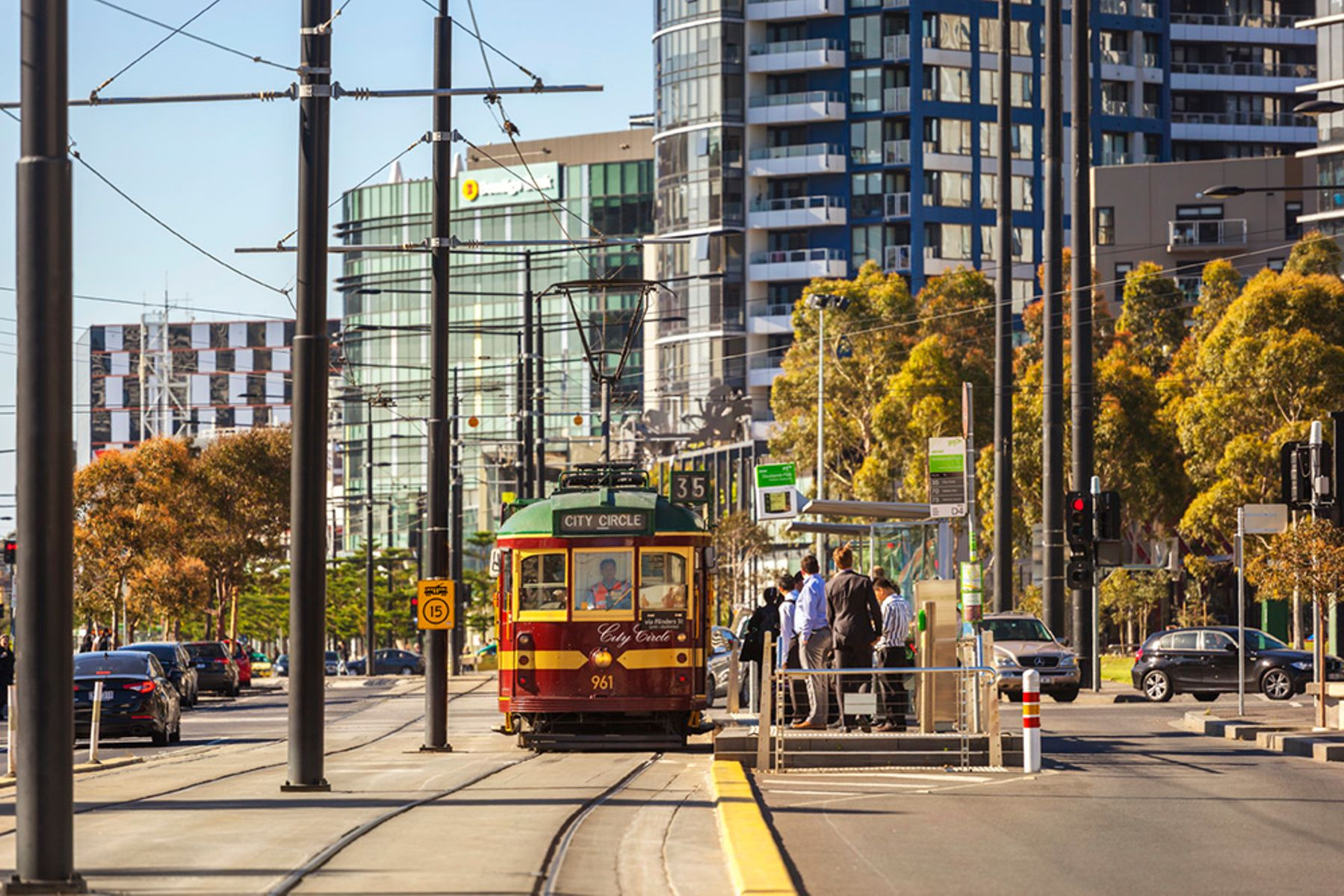 Tram on Harbour Esplanade
