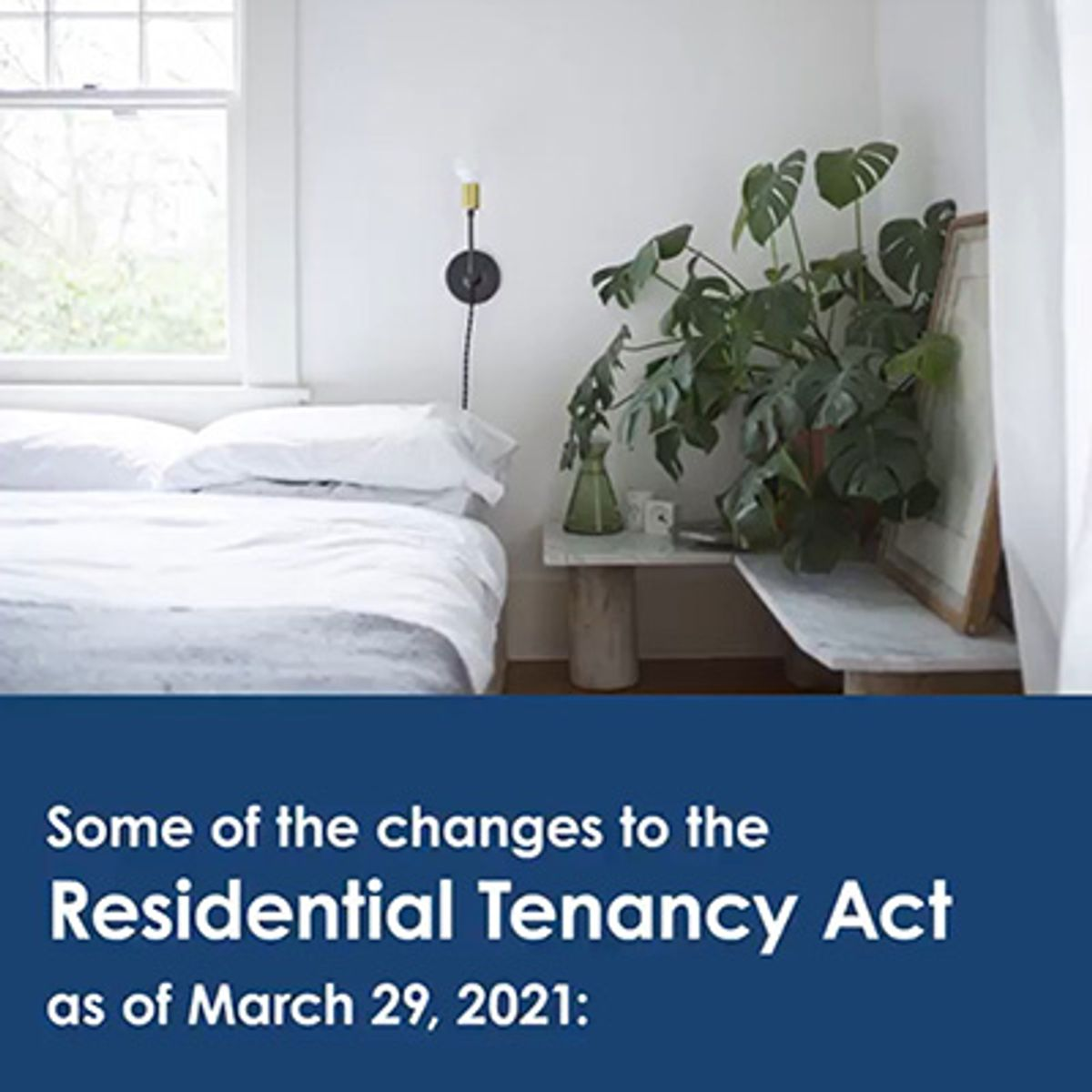 Changes to the residential tenancies act