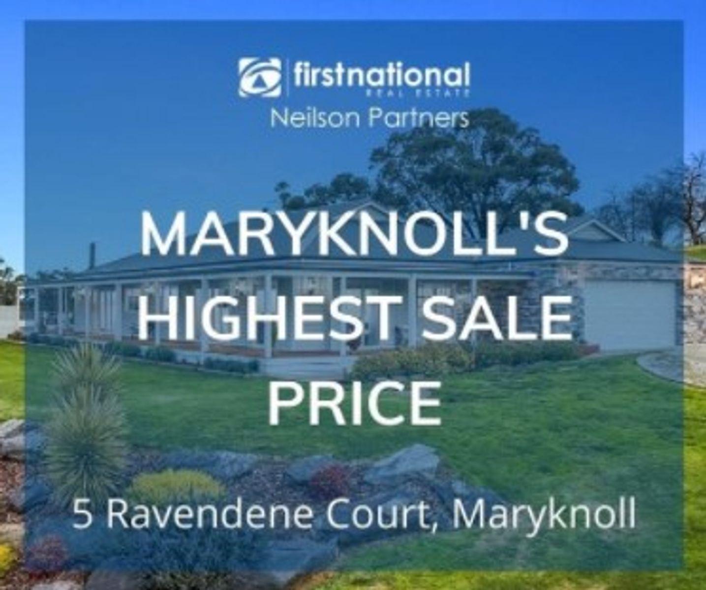 5 Ravendene Court, Maryknoll with wording overlay