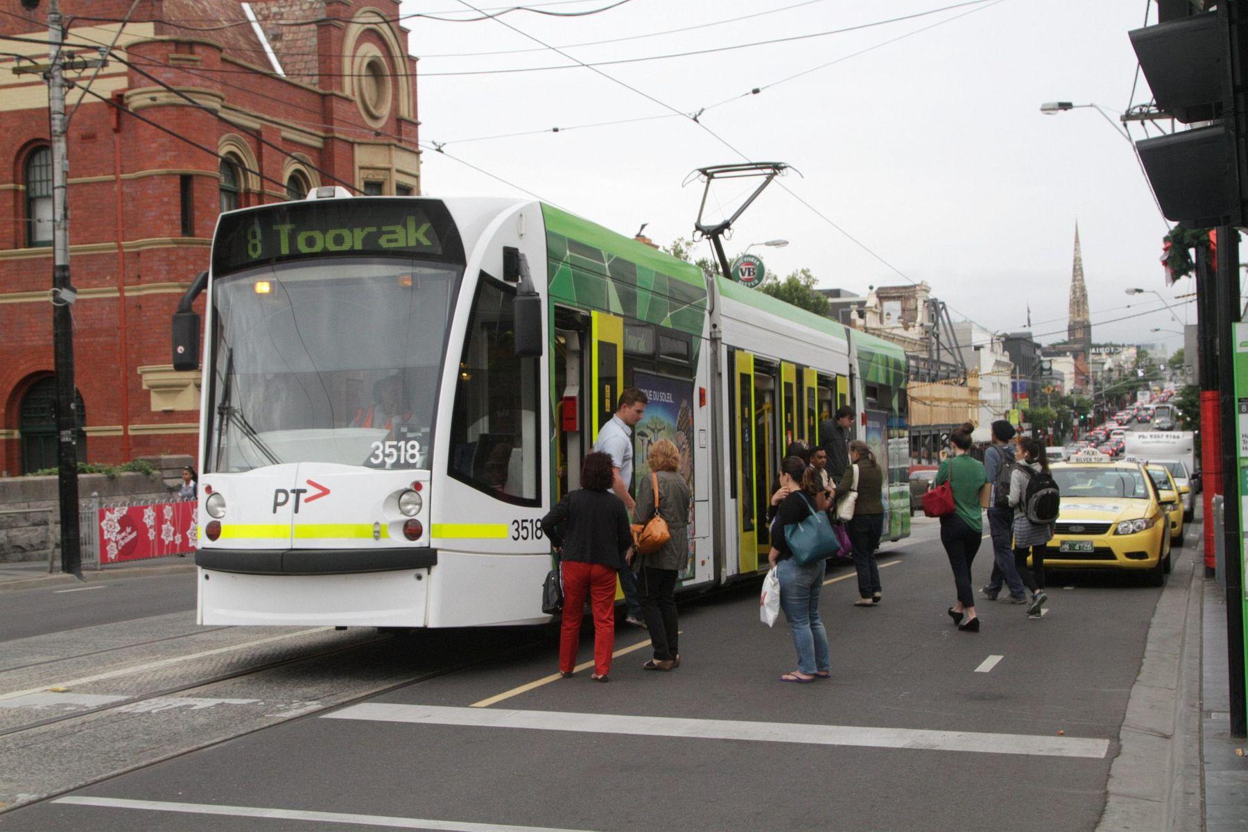 Toorak Rd Number 8 tram