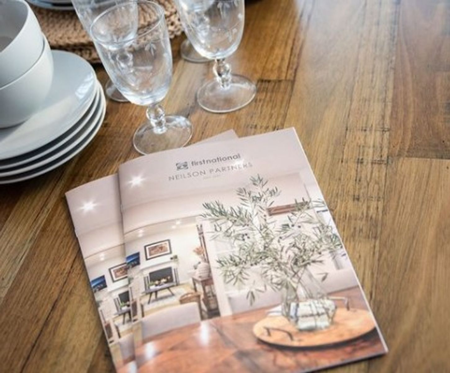 property and lifestyle magazine on timber table