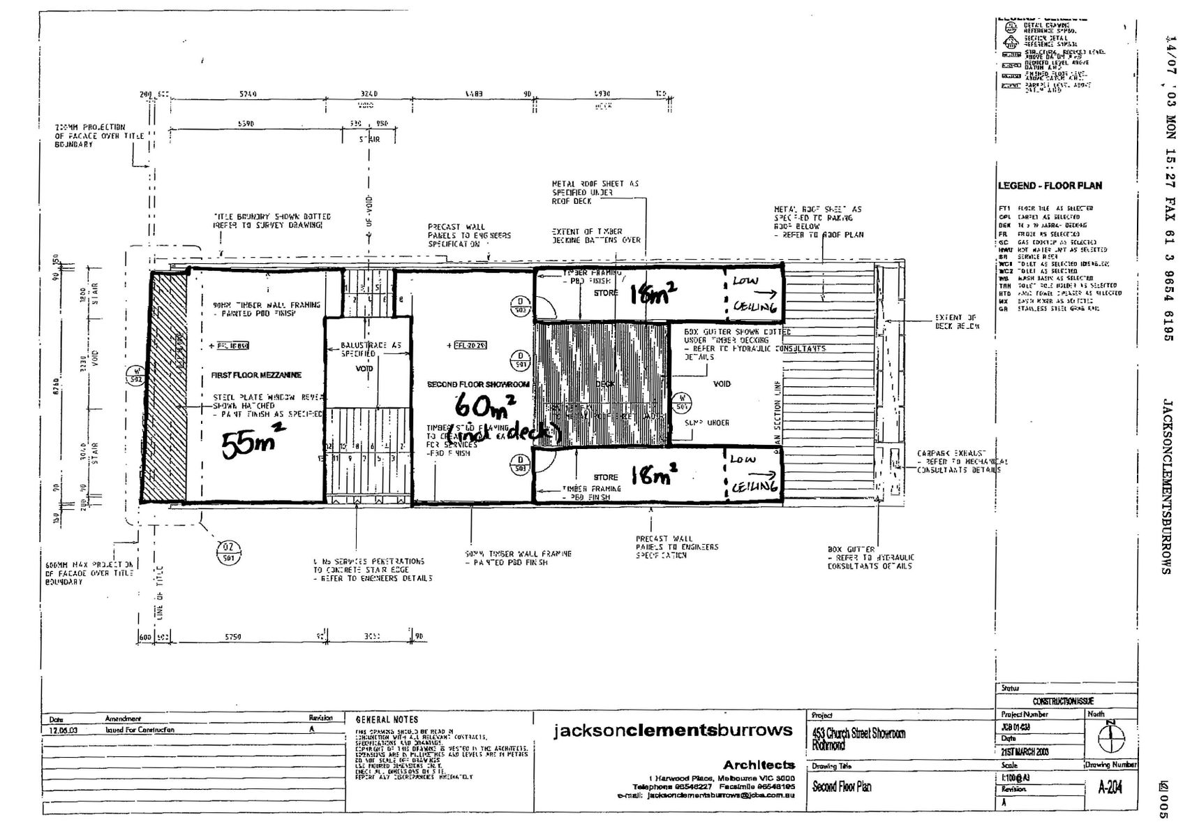 Building Plans Page 3 Second Floor