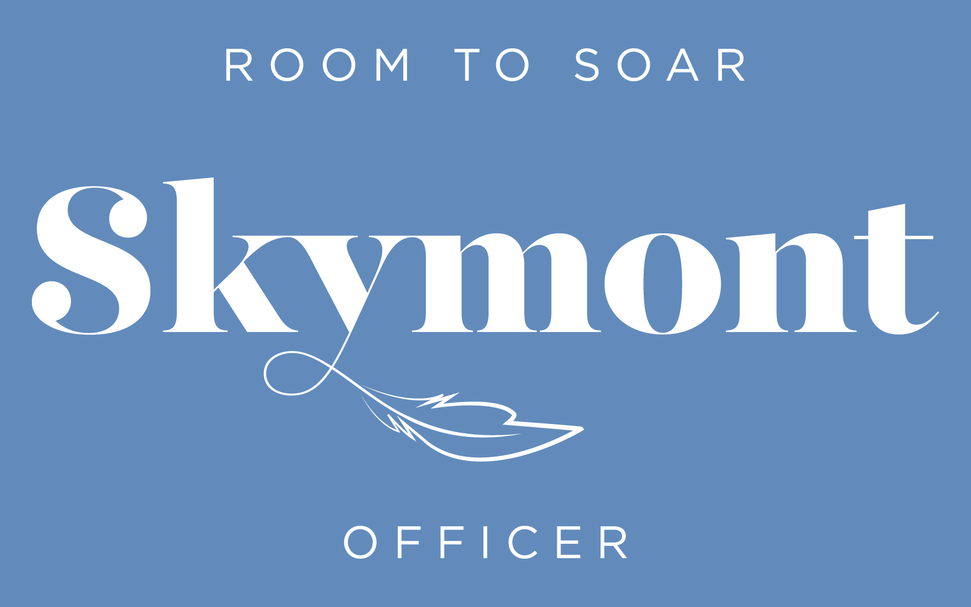 Skymont White Bluebackground
