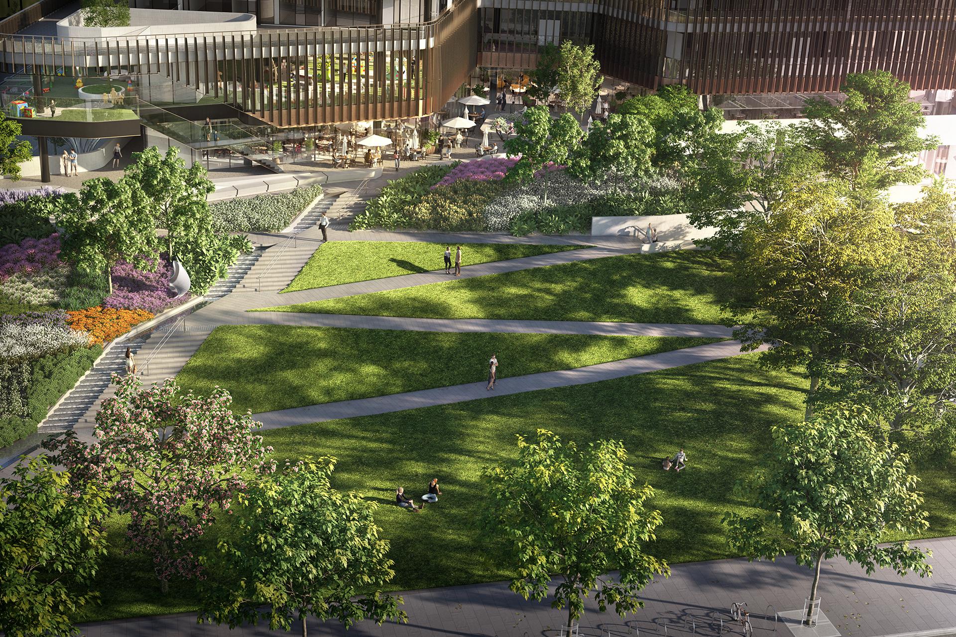 OSKH9386 Melbourne Square EA06 Aerial Park