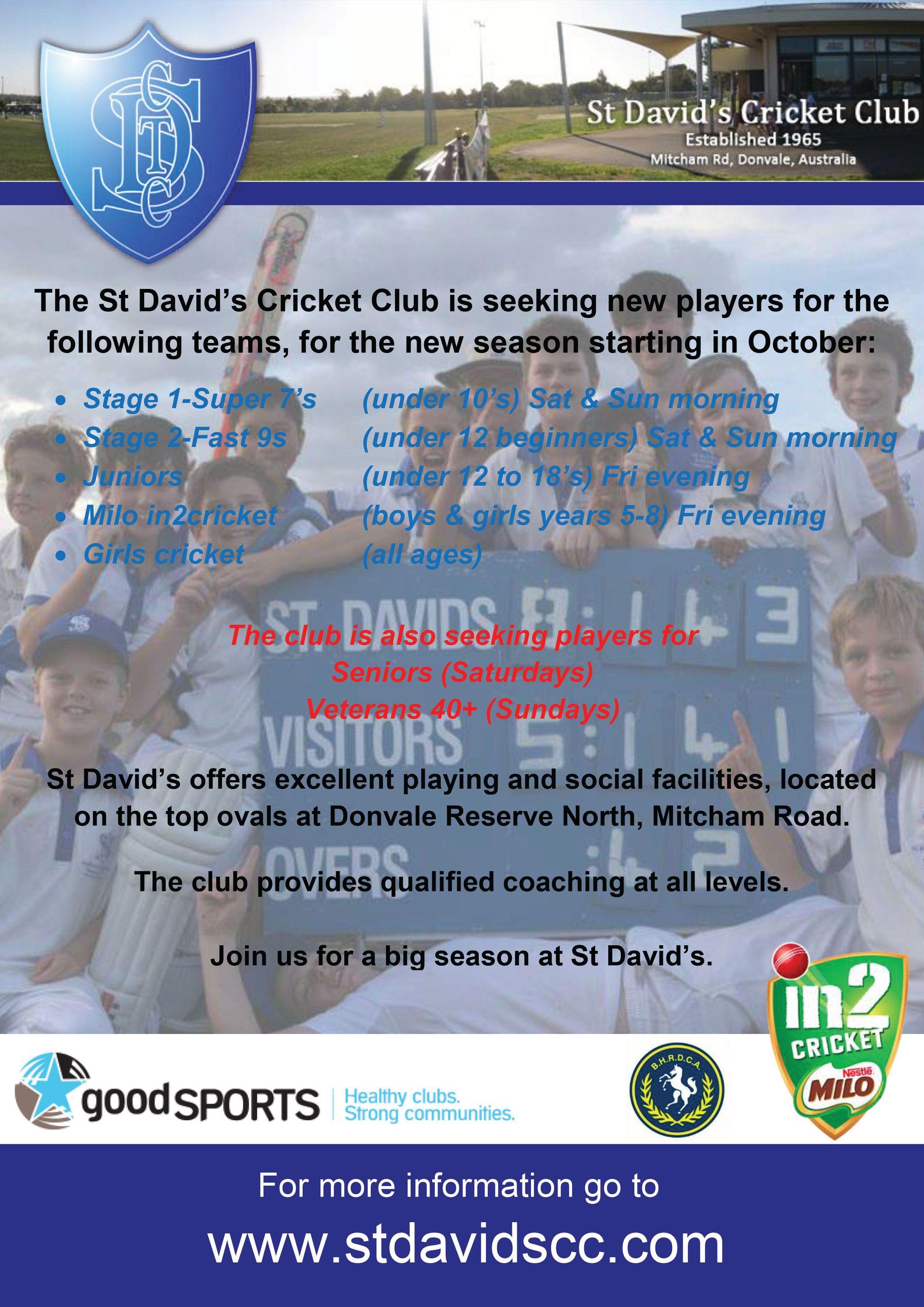 St Davids Cricket Club