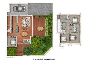 42 Hosken Street Springvale Project Townhouse 1 Floor Plan Print   Copy