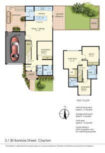 Floor Plan   Unit 3, 30 Banksia Street, Clayton