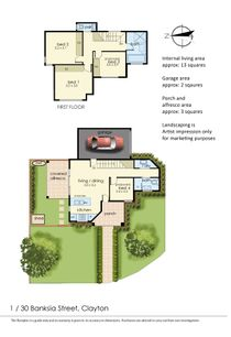 Floor Plan   Unit 1, 30 Banksia Street, Clayton