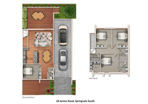 42 Hosken Street Springvale Project Townhouse 2 Floor Plan Print