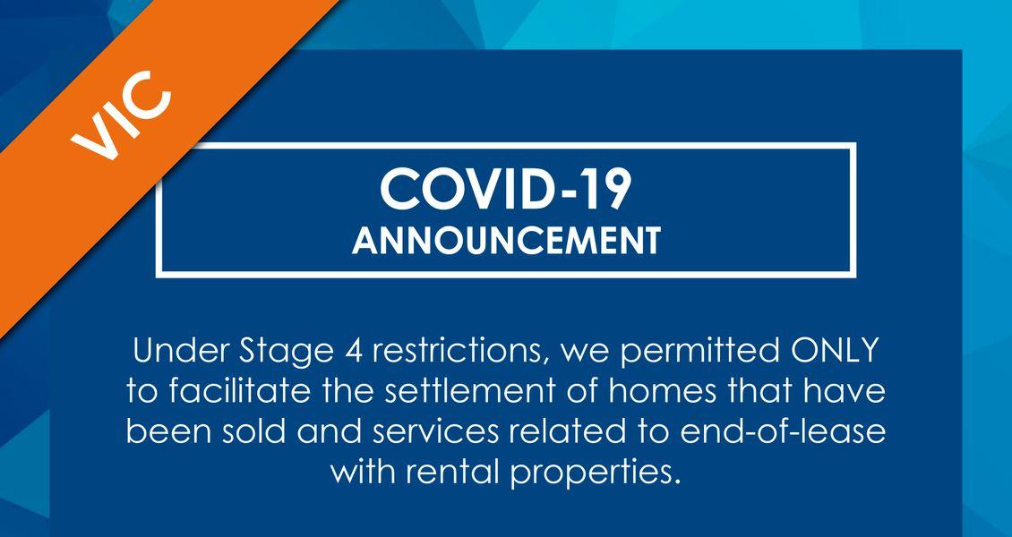 COVID 19 Announcement