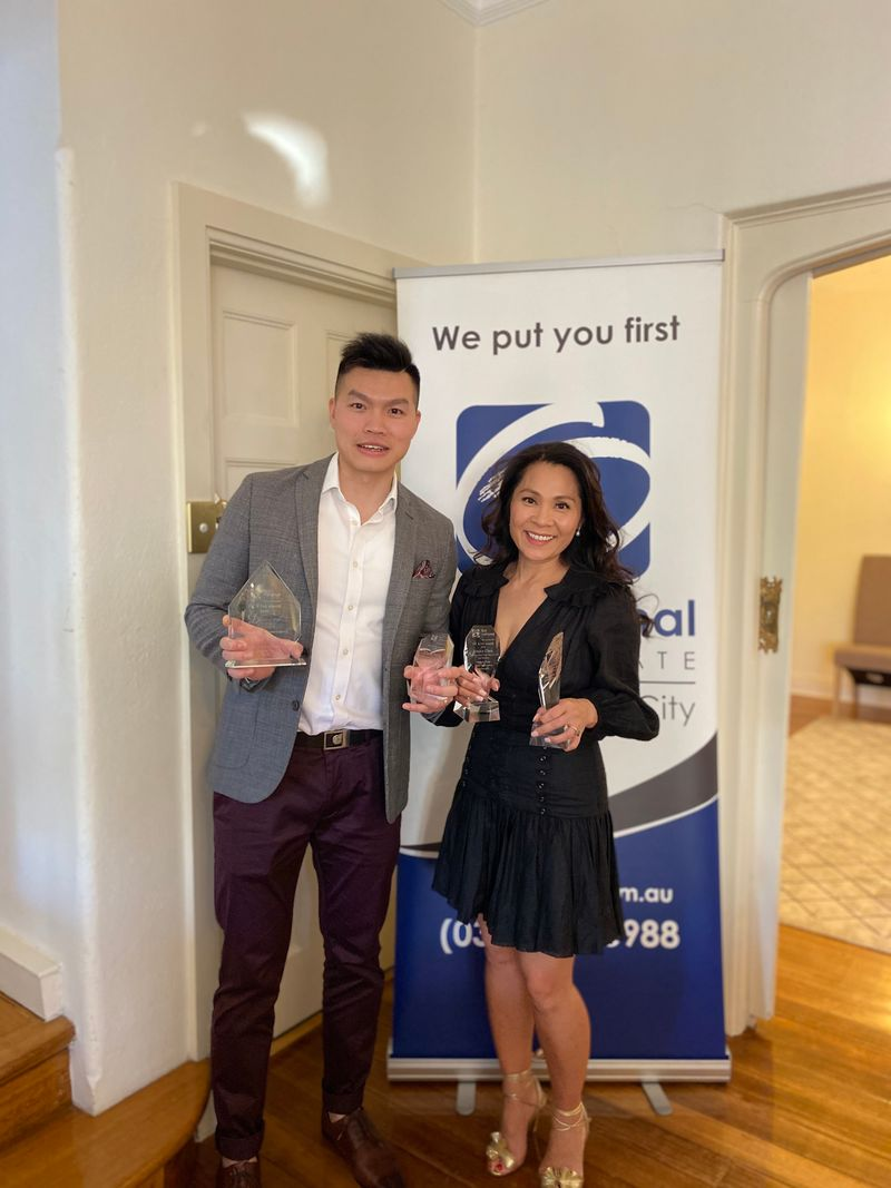 Jessica and Chris receive First National Awards
