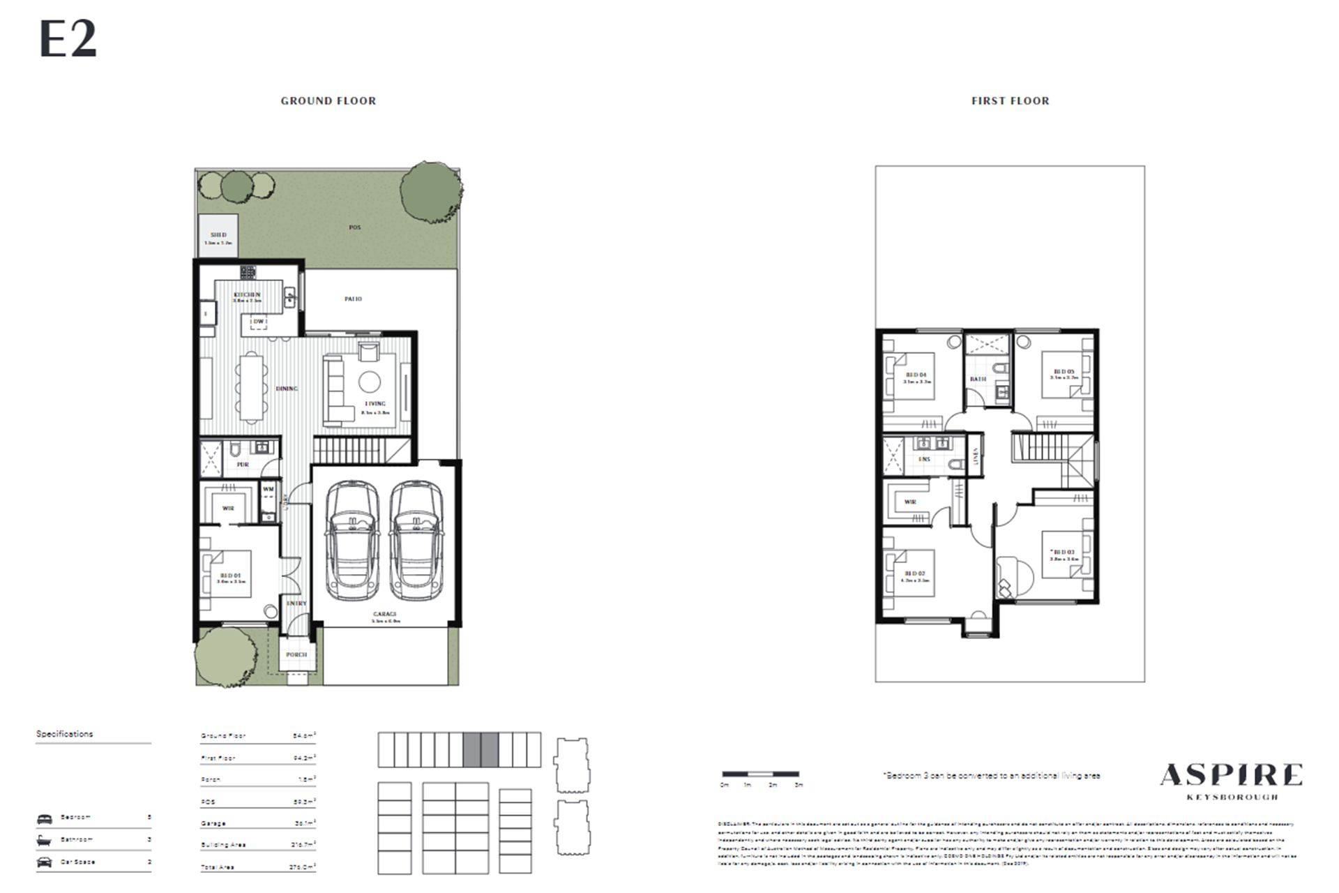 Aspire   E2 Floor Plan (Townhouse)