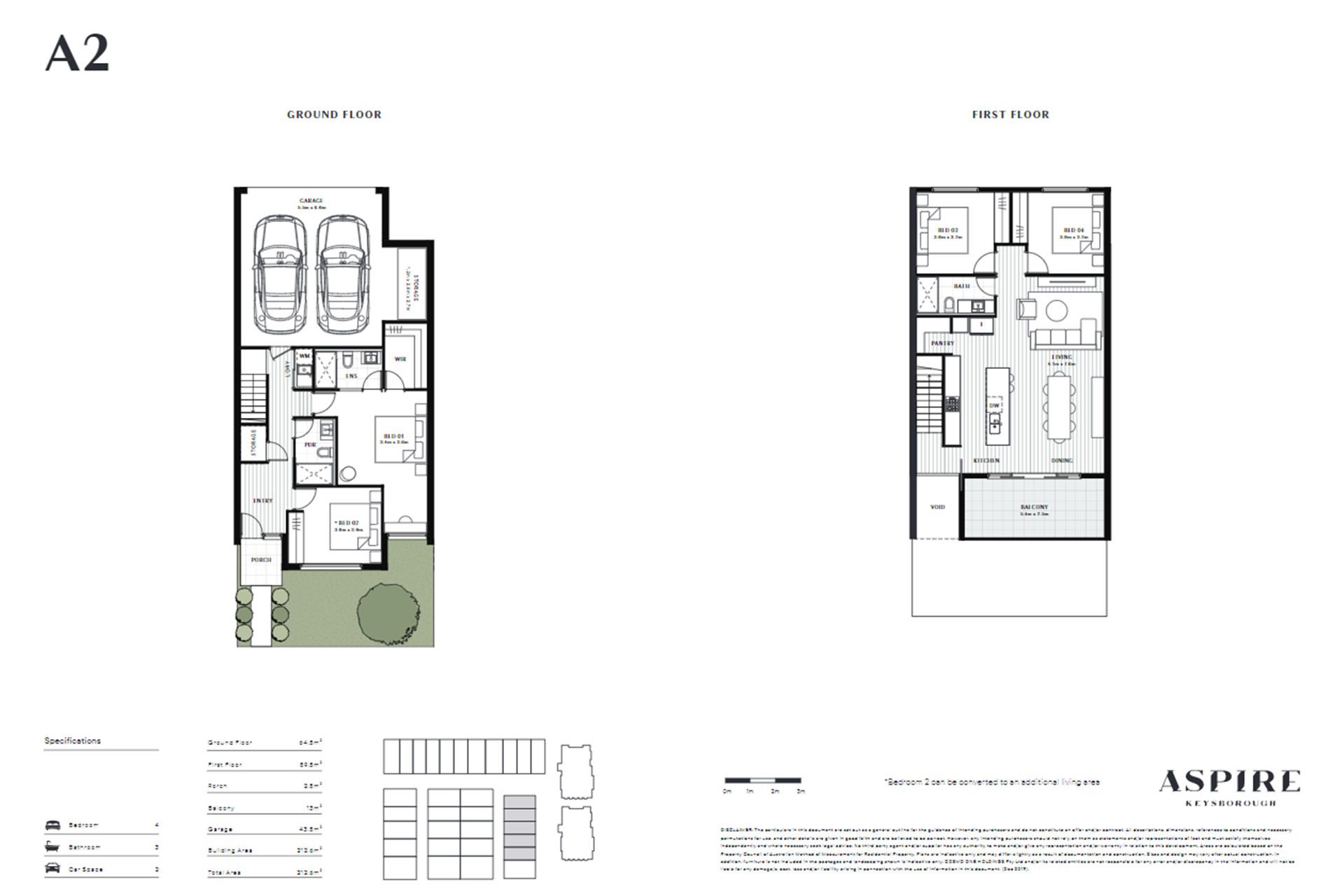 Aspire   A2 Floor Plan (Townhouse)