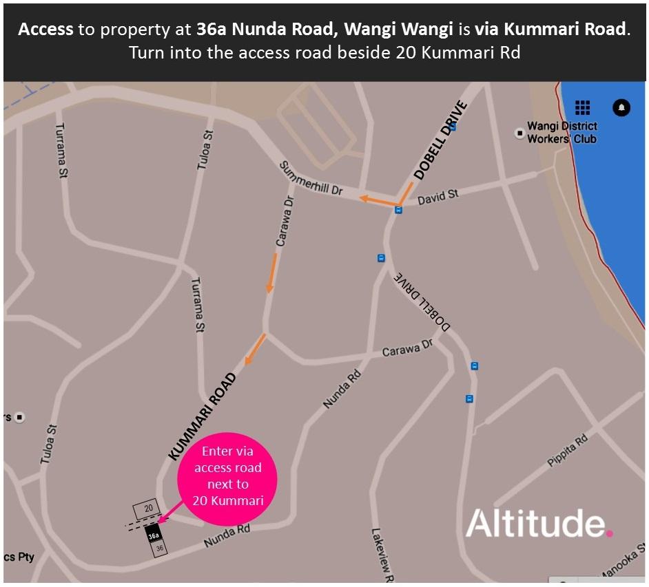 Access Map to 36a Nunda Rd, Wangi