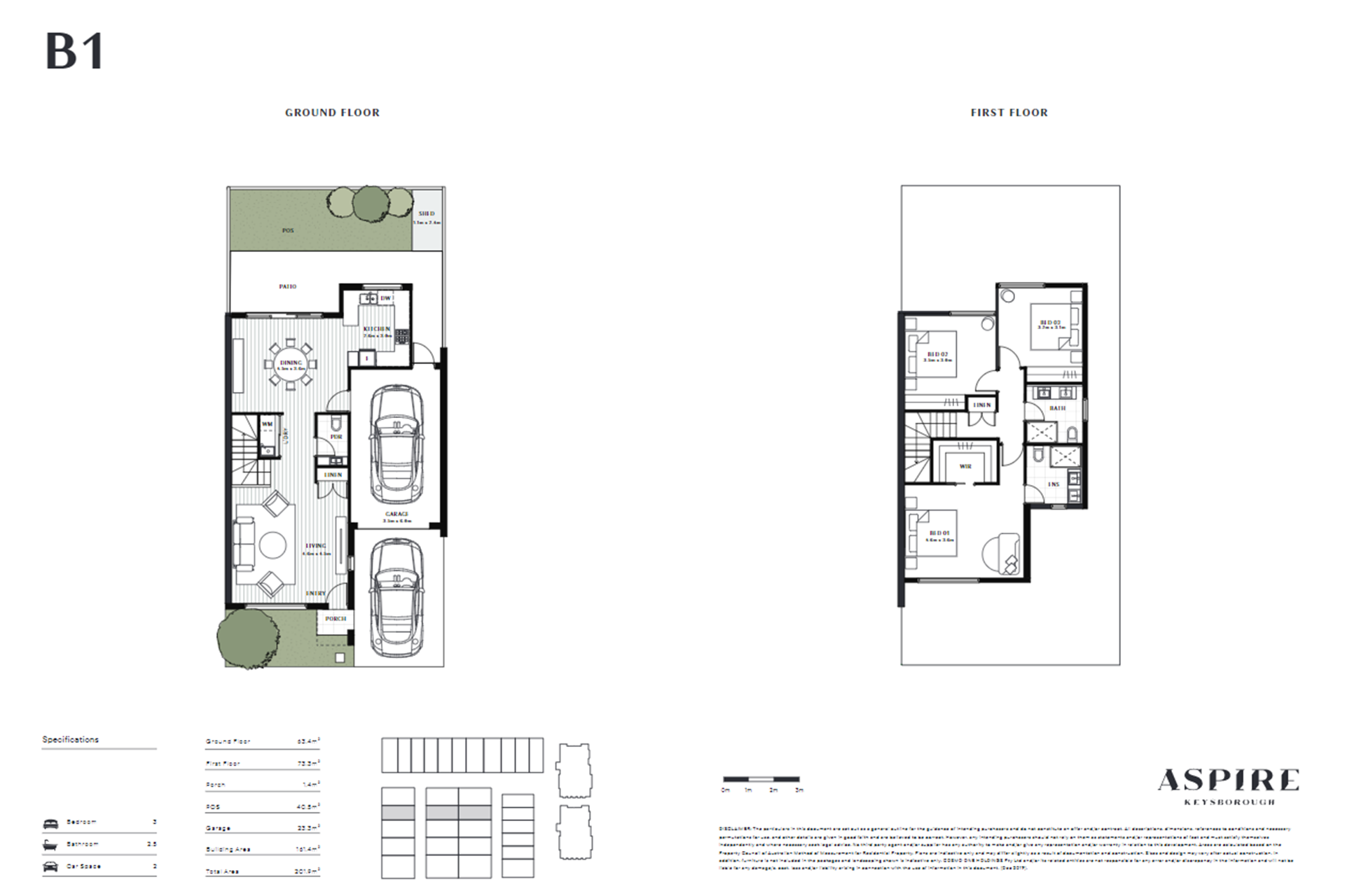Aspire   B1 Floor Plan (Townhouse)