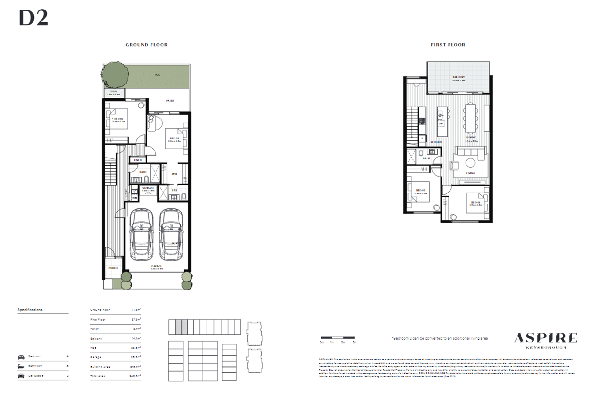 Aspire   D2 Floor Plan (Townhouse)