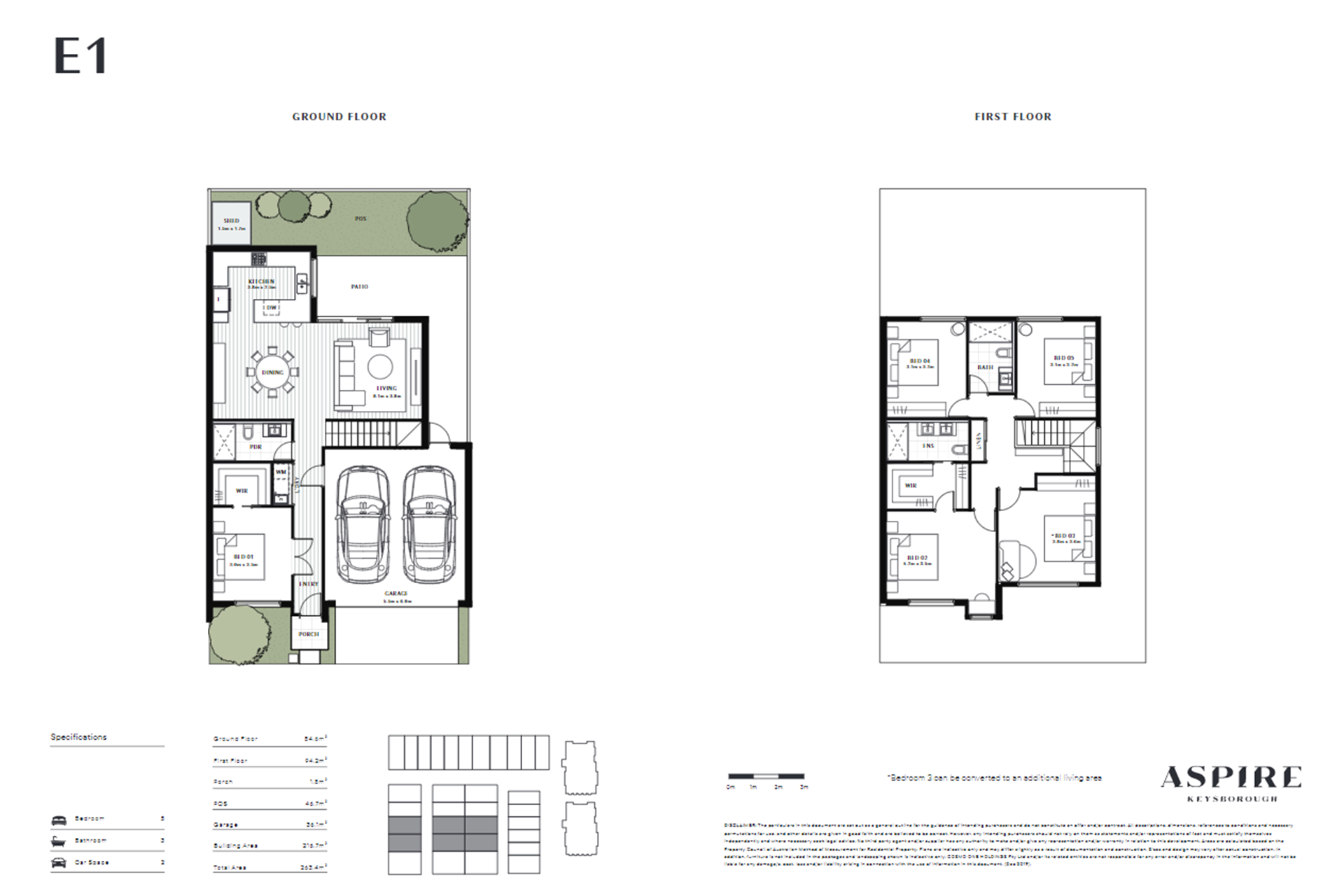 Aspire   E1 Floor Plan (Townhouse)