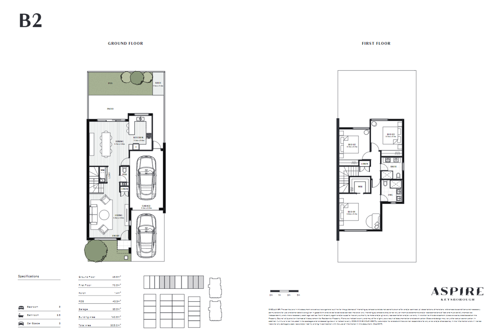 Aspire   B2 Floor Plan (Townhouse)
