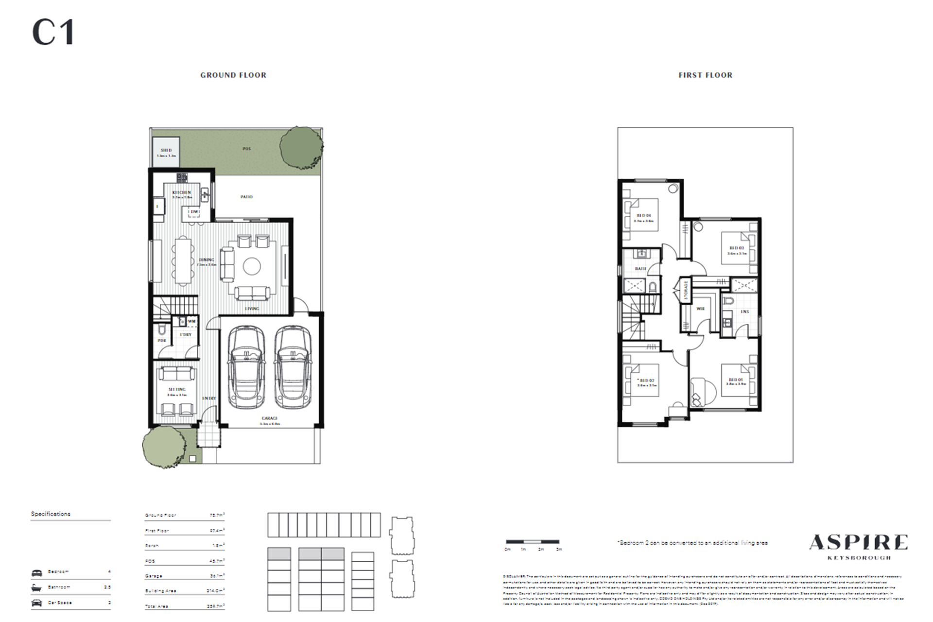 Aspire   C1 Floor Plan (Townhouse)
