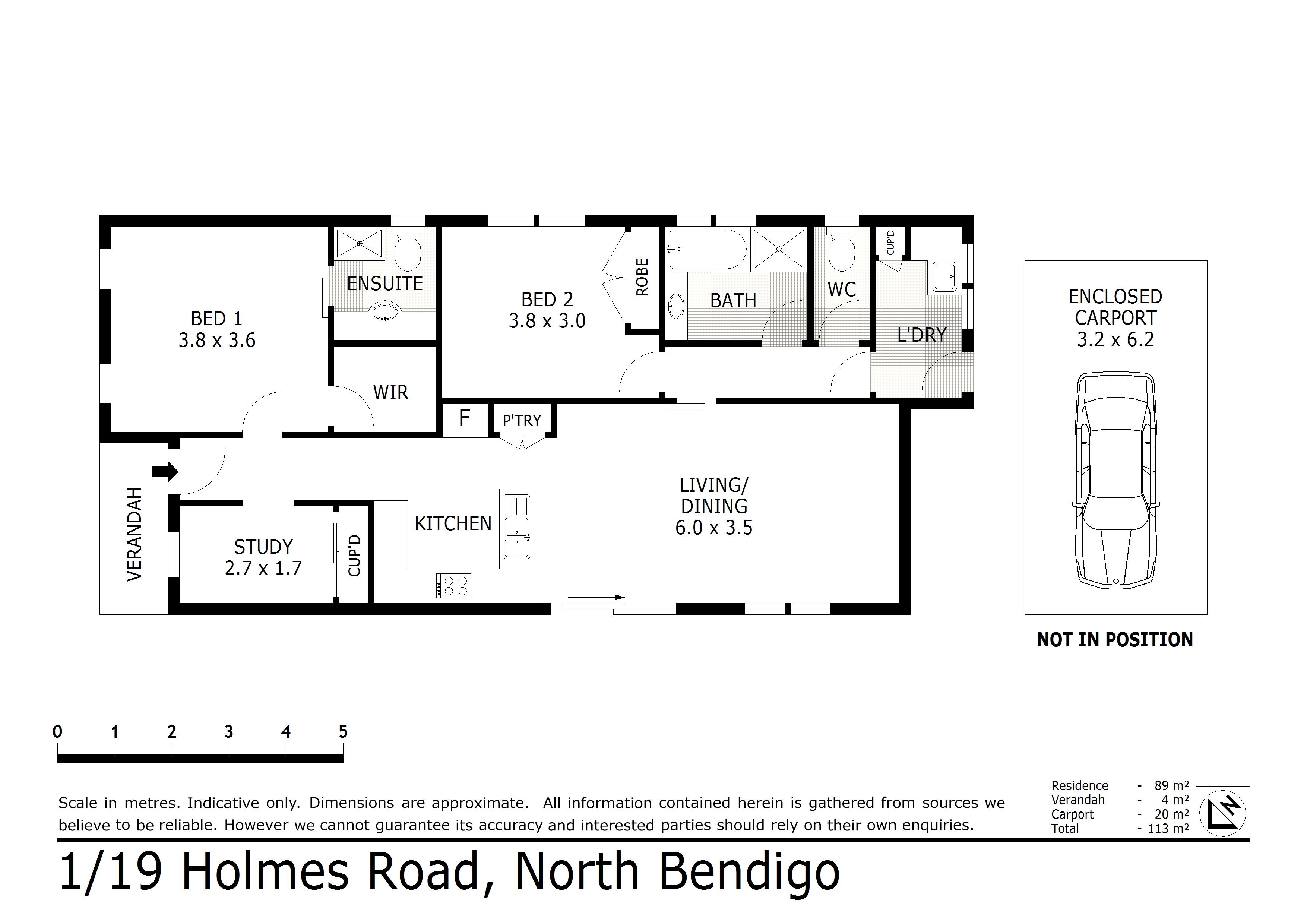 1/19 Holmes Road, Long Gully, VIC 3550