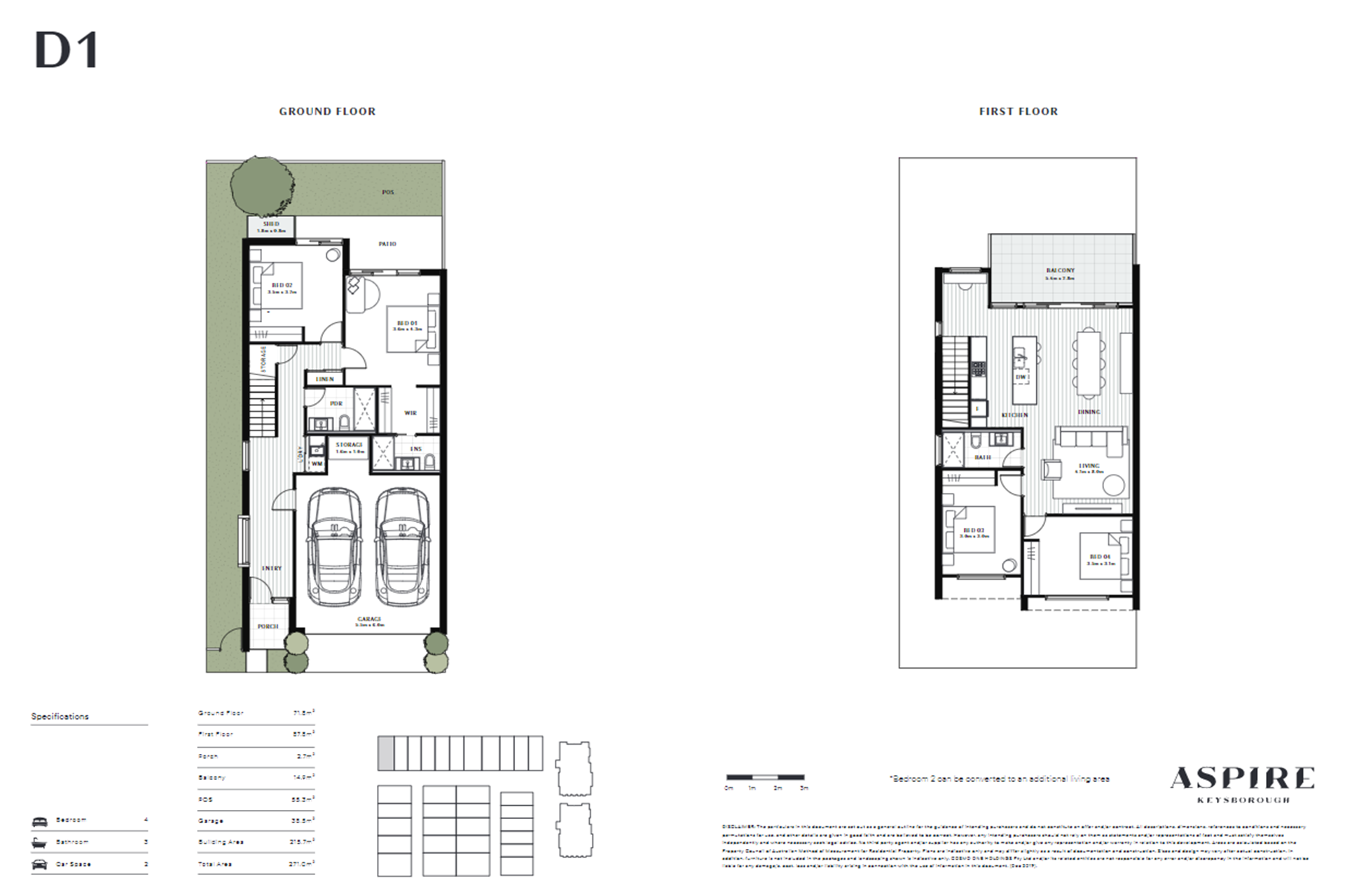 Aspire   D1 Floor Plan (Townhouse)