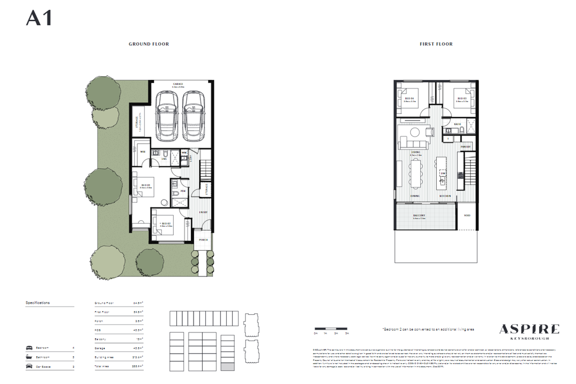 Aspire   A1 Floor Plan (Townhouse)