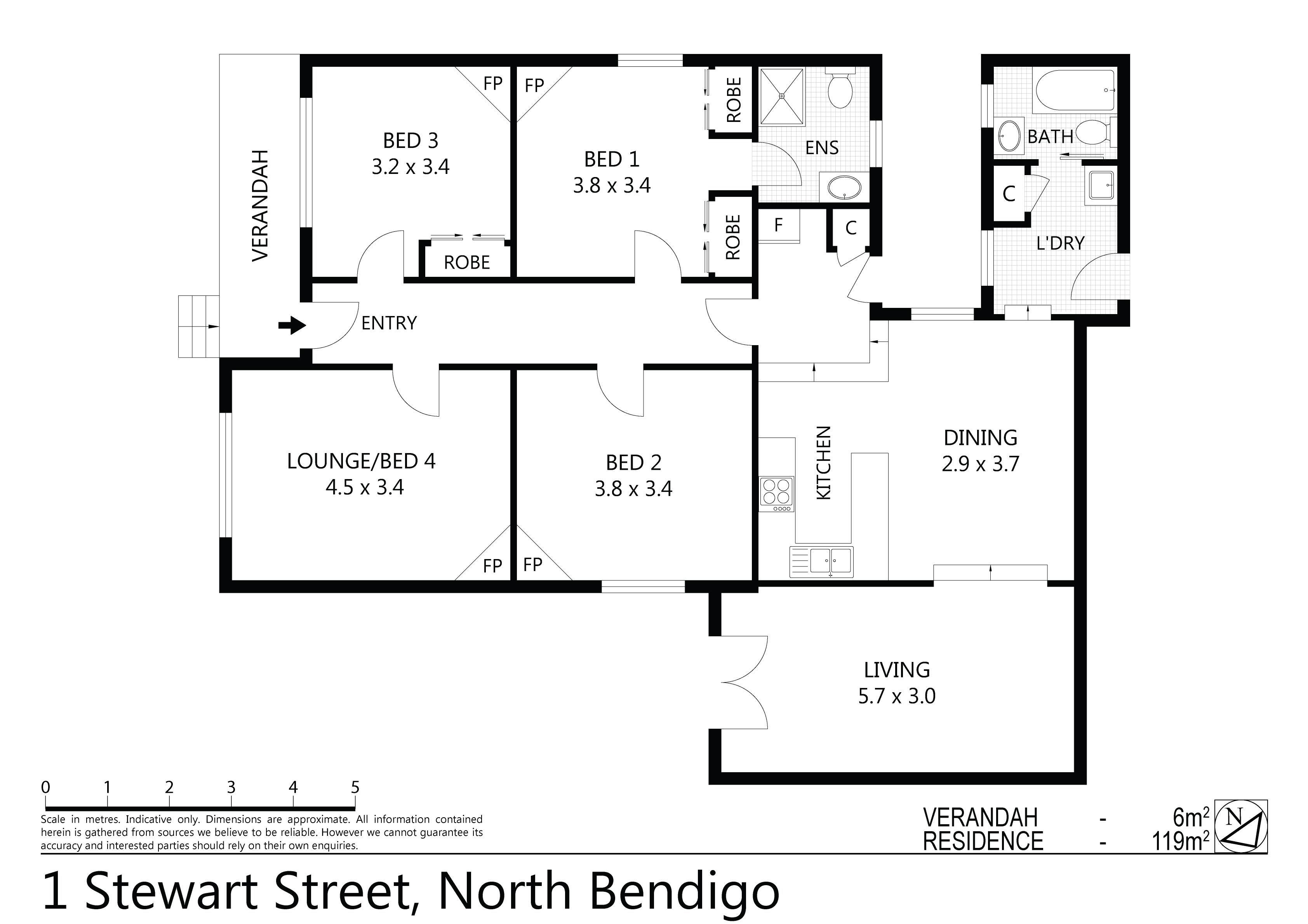 1 Stewart Street, North Bendigo, VIC 3550