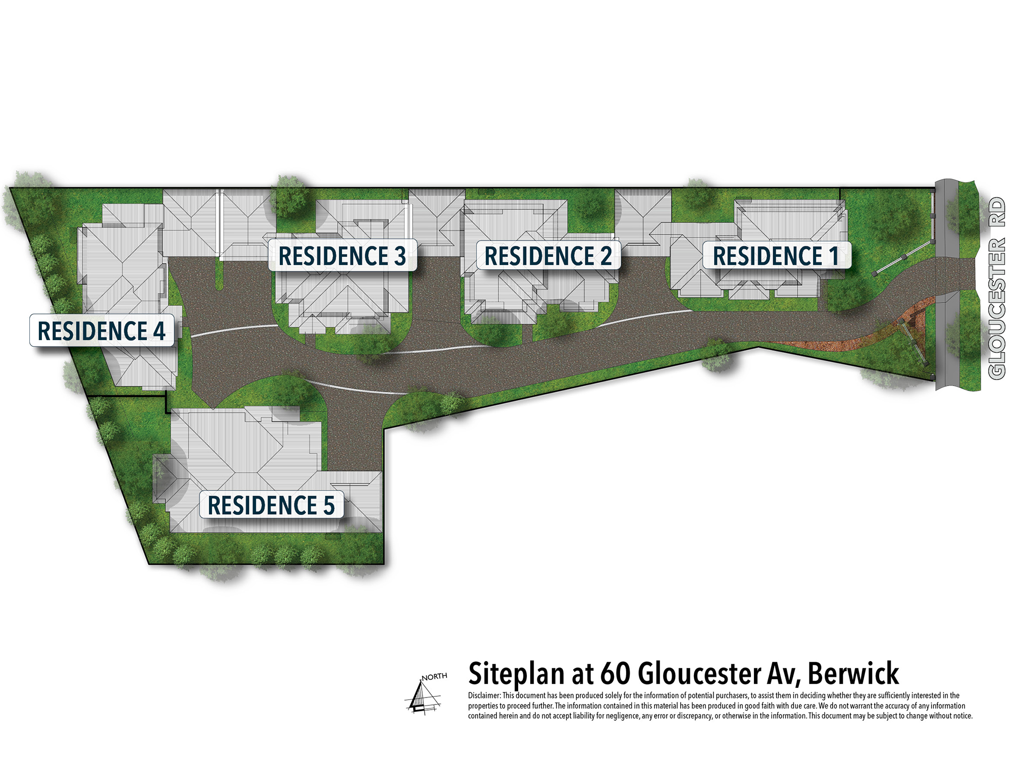 Siteplan   60 Gloucester Av, Berwick