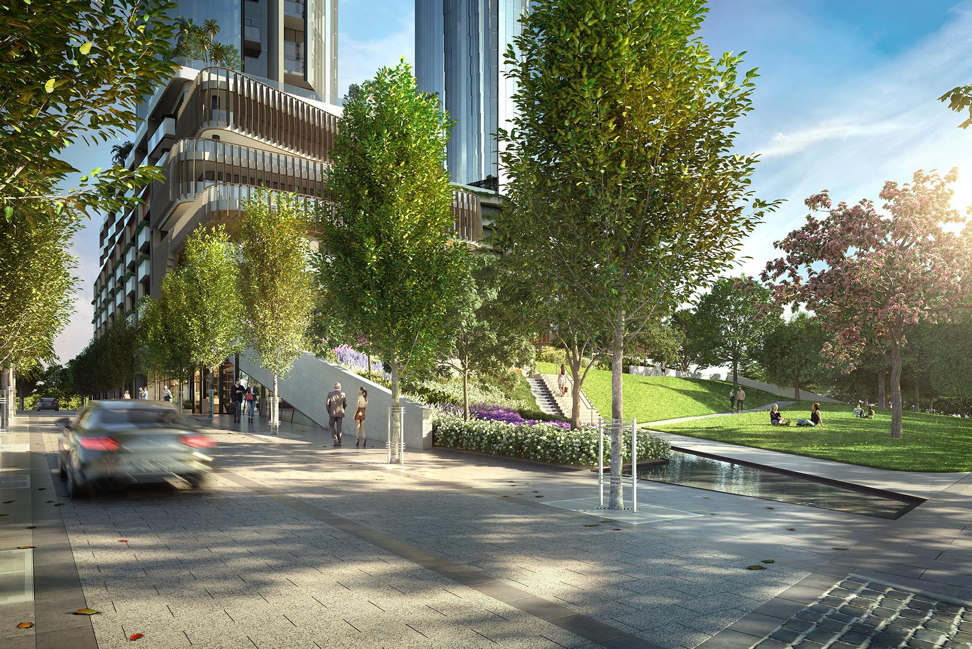 OSKH9386 Melbourne Square EA05 Park Boulevard Entrance