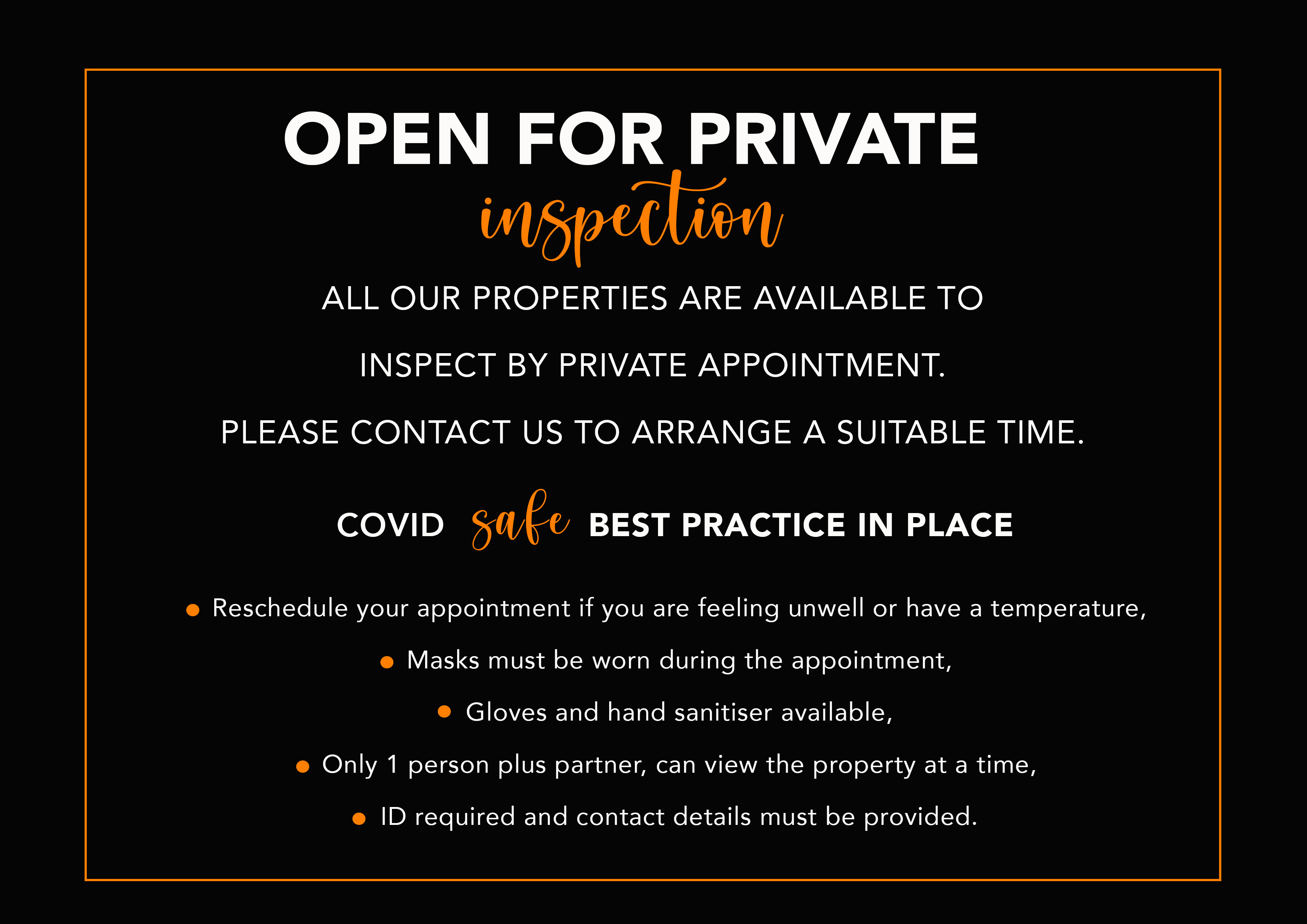 USE private inspection slide