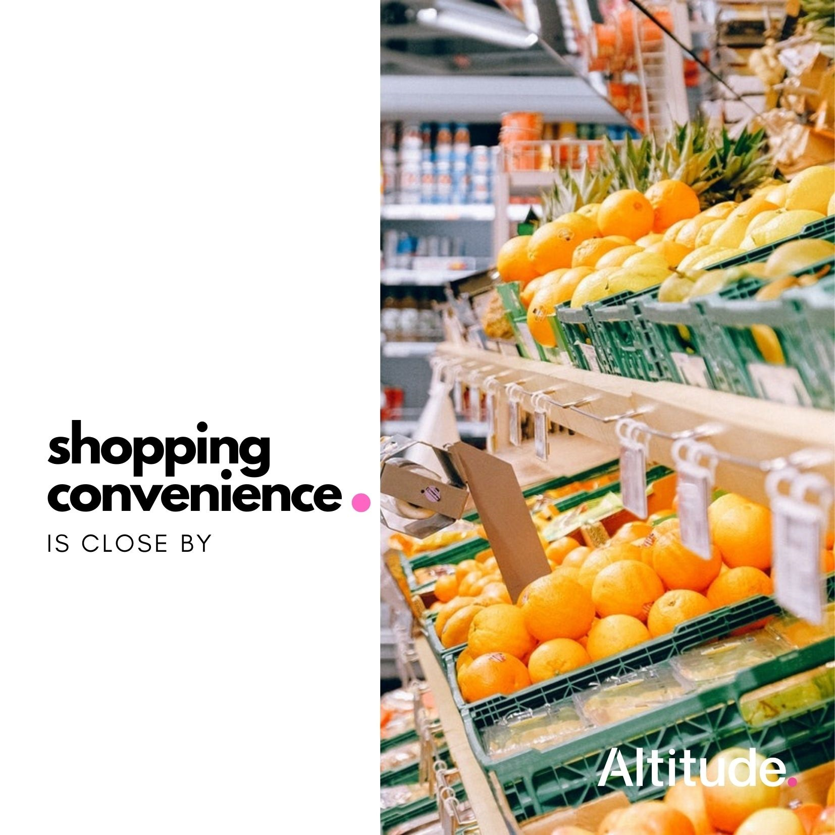 Leasing Campaign   Shopping Convenience Close By