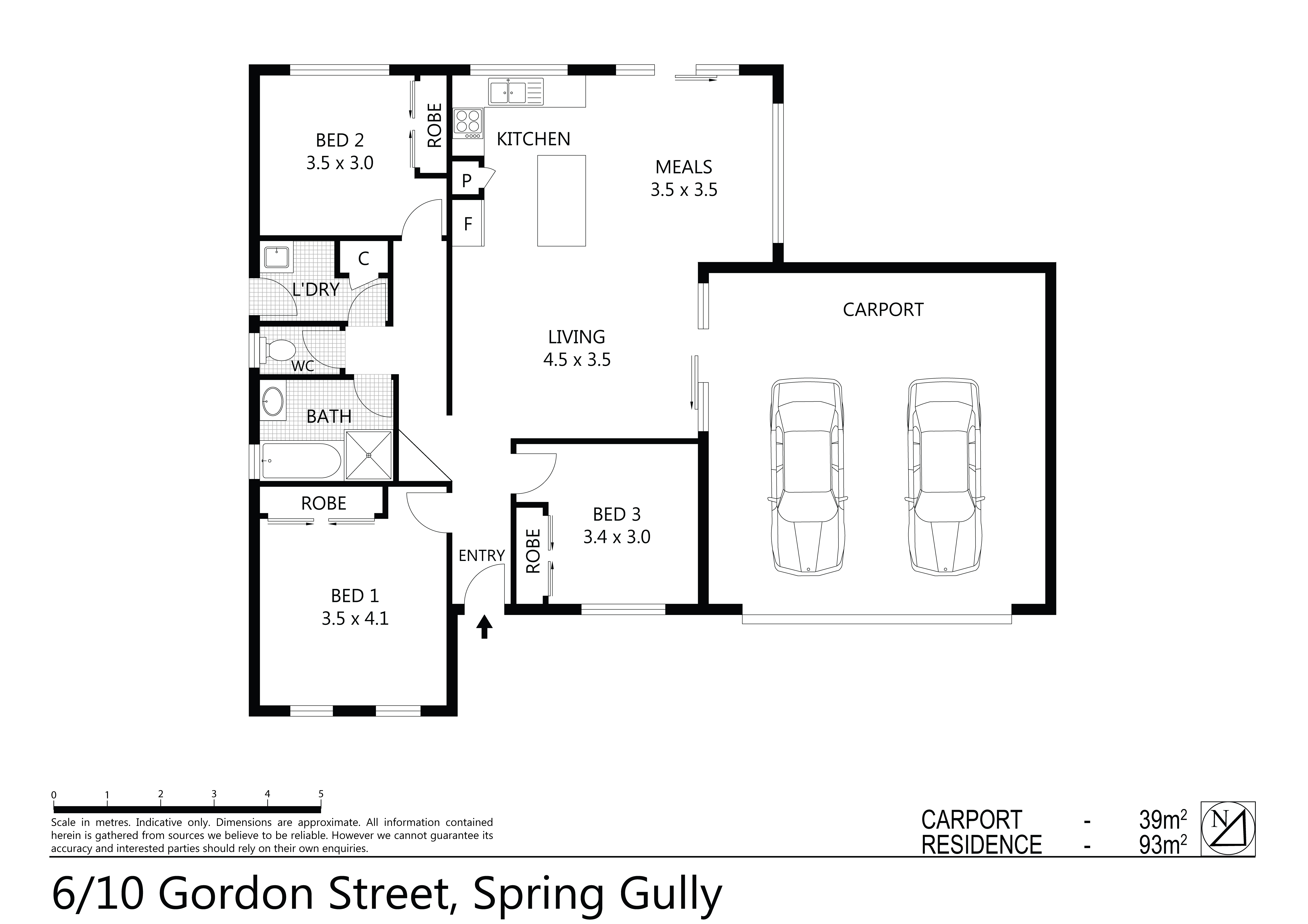 Mckean Mcgregor 6 10 Gordon Street Spring Gully Vic 3550 Schematic 05 September 2018 93 Sqm